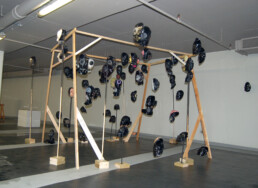 HEADS OF ASSEMBLY 2014 Installation view at WE COULD NOT AGREE - Q-PARK, London KEELERTORNERO