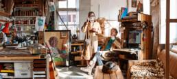 KEELERTORNERO in the studio by Anthony Lycett