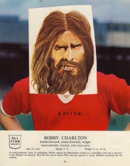 BOBBY CHARLTON 2015 Collage 20x25cm KEELERTORNERO
