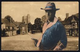 CHILHAMCOWBOY 2019 Collage on vintage postcard14x9cm KEELERTORNERO