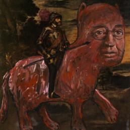 THE BATTLE OF MUHLBERG 2012 Acrylic on found image 19x22cm KEELERTORNERO