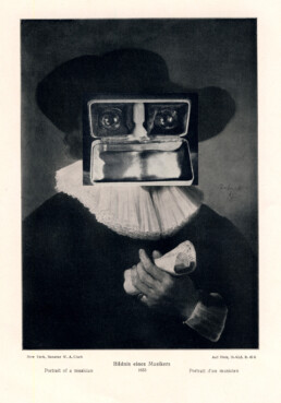 PORTRAIT OF A MUSICIAN 2015 Collage 13x18cm KEELERTORNERO