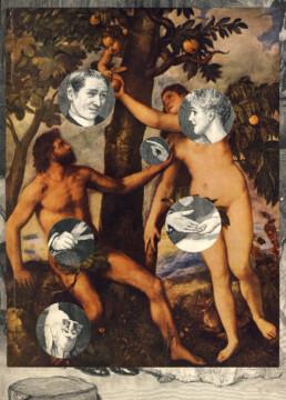 ADAM AND EVE 2011 Collage 24x33cm KEELERTORNERO