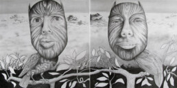 THE CANOPY 2015 Pencil on paper 100x50cm KEELERTORNERO