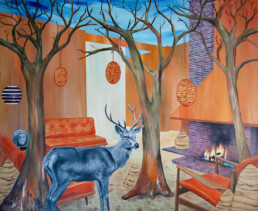STAG INTERIOR 2012 Acrylic on canvas 200x150cm KEELERTORNERO