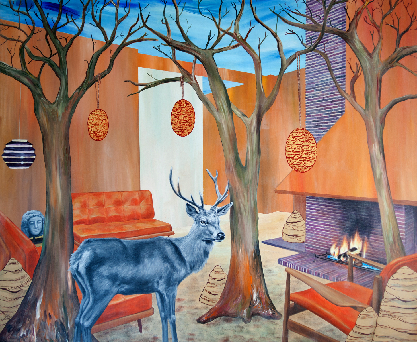 Stag Interior 2012 Acrylic and canvas 150x200cm
