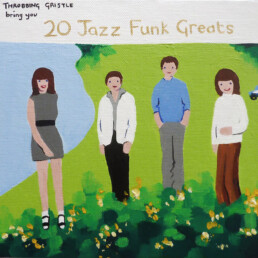 20 Jazz Funk Greats 2014 Acrylic on canvas 20x20cm Sian Superman
