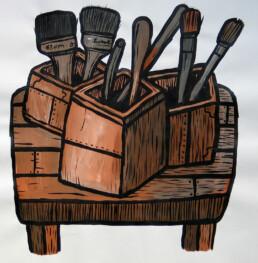 ARTIST'S TOOLS 2012 Acrylic on paper 42x42cm KEELERTORNERO