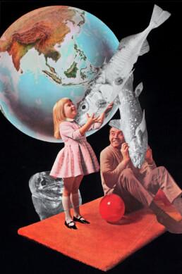 PLAYTHINGS 2021 Original Collage 29.5x42cm KEELERTORNERO