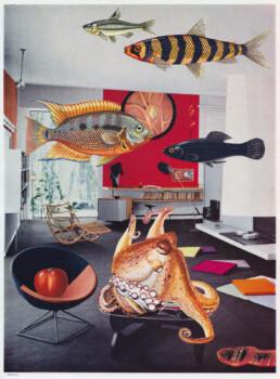 A TYPICAL NORFOLK LIVING AREA 2021 Original Collage 21.5x28.5cm KEELERTORNERO