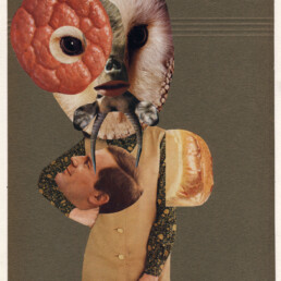 BEAUTY IS IN THE EYE OF THE BEHOLDER 2020 Collage 20.5x27cm KEELERTORNERO