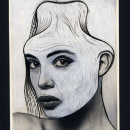SUSAN BARNFIELD 2013 Acrylic and ink on found image 10x13cm KEELERTORNERO