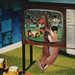 TV BIRD 2012 Original Collage 11x7.5cm KEELERTORNERO