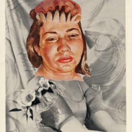 MARGOT FONTEYN IN THE IMPERIAL DENTAL COLLEGE BALLET 2012 Collage 9x11.5cm KEELERTORNERO